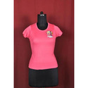 Round Neck Pink Girls T-Shirts