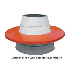 Circular Bench With Back Rest And Planter