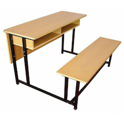 Two Seater School Desk Bench