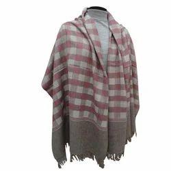 Check Design Woolen Shawl