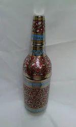 Engraved Brass Bottle Holder
