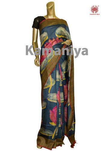 Resist Painted Sari