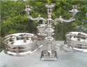 Nickel Plated Bowls with Candle Holder