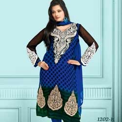 Long Designer Salwar Suits - Salwar Suit Exporter from Noida