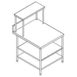 SS Side Table 2 U/s & Ohs