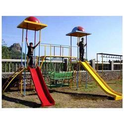 Fiber Play Slide with canopy