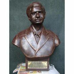 Bronze Bust Ramanujan Statue