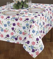 Various Flower Design Printed Table Cloth