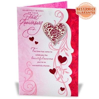 Greeting cards first anniversary card service provider from first anniversary card m4hsunfo