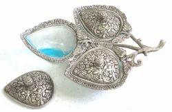 White Metal Glass Bowl