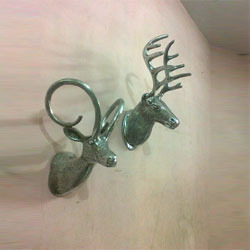 Aluminum Wall Mounted Stag Head