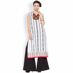 Ladies Designer Casual Printed Long Kurtas