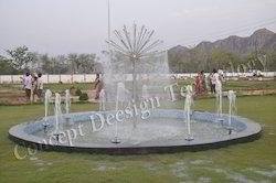 Dandelion Fountain with Foam Effect