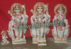 Marble Ram Pariwar  Statue