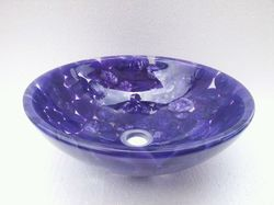 Round Violet Pebbles Washbasin