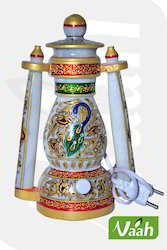 Vaah Decorative Marble Lantern with Meenakari