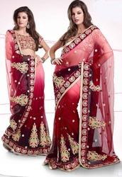 Net Shaded Saree Pat-1200