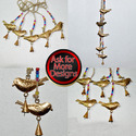 Recycled Iron Sheet Birds Wind Chimes For Home Decor