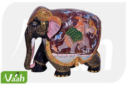 Vaah Painted Wooden Elephant