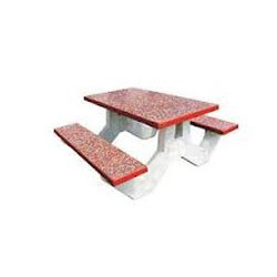 Terrazzo Finish Rectangular Bench