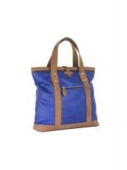 Elegant Blue and Light Brown Stripped Handbags