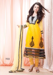 Long Salwar Kameez With Net Border