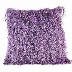 Knotted Polyester Shaggy Cushions