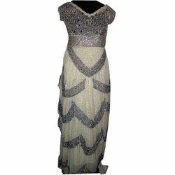 Silver+Indo+Western+Dress