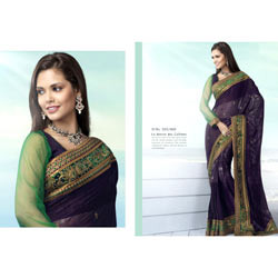 Green & Blue Fancy Saree