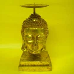 Buddha Faced Candle Stand
