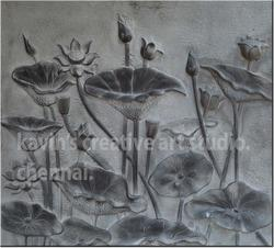 Stone Wall Murals Lotus Stone Mural Manufacturer from Chennai