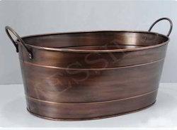Oval Log Tub