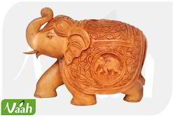 Home Decor Vaah Carved Wooden Elephant