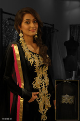 Readymade Salwar Kameez Black Colors
