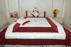 Embroidered Dot Design Bed Sheet