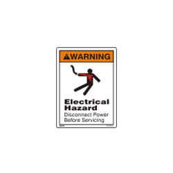 Electrical Hazard Warning Sign