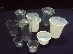 plastic disposables glass