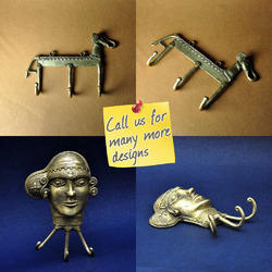 Dhokra Bell Metal Decorative Wall Hooks