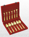 12 Pc. Set Velvet Box Gold Plated