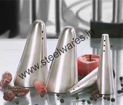 stainless steel salt pepper shaker set