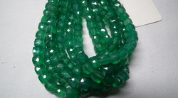 Green Onyx Faceted Cubes