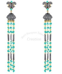 Gemstone+Tassel+Earring