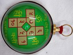 Hanging Vaastu Yantra Colorful Covered With Glass