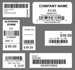 Barcode Size Price Sticker