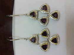 Sterling Silver Gemstone Earring