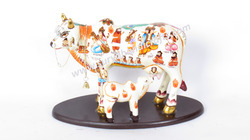Wooden Painitng Cows