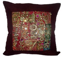 Old patch work cushion cover