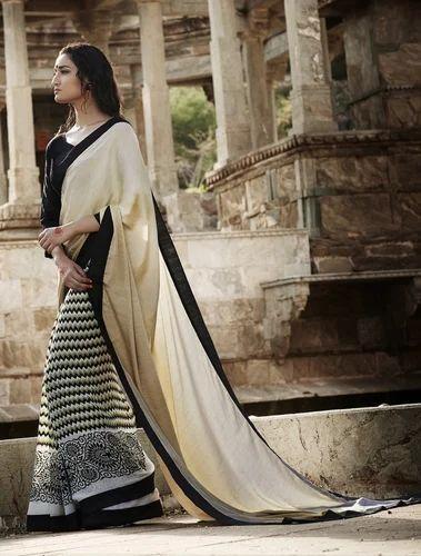 Designer Georgette / Jacquard / Satin Saree
