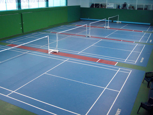 Attitude pvc vinyl flooring indoor badminton court for Sport court cost per square foot