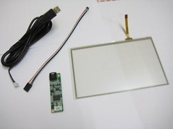 17 square 4 wire resistive touch screen